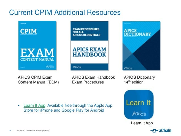 apics cpim exam content manual version 5.0