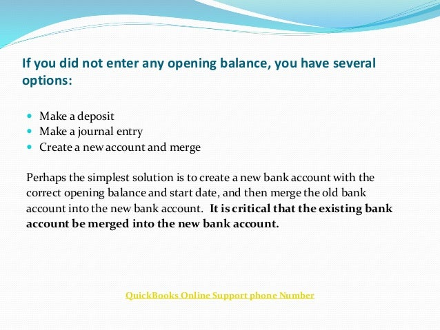 quickbooks online manual bank account
