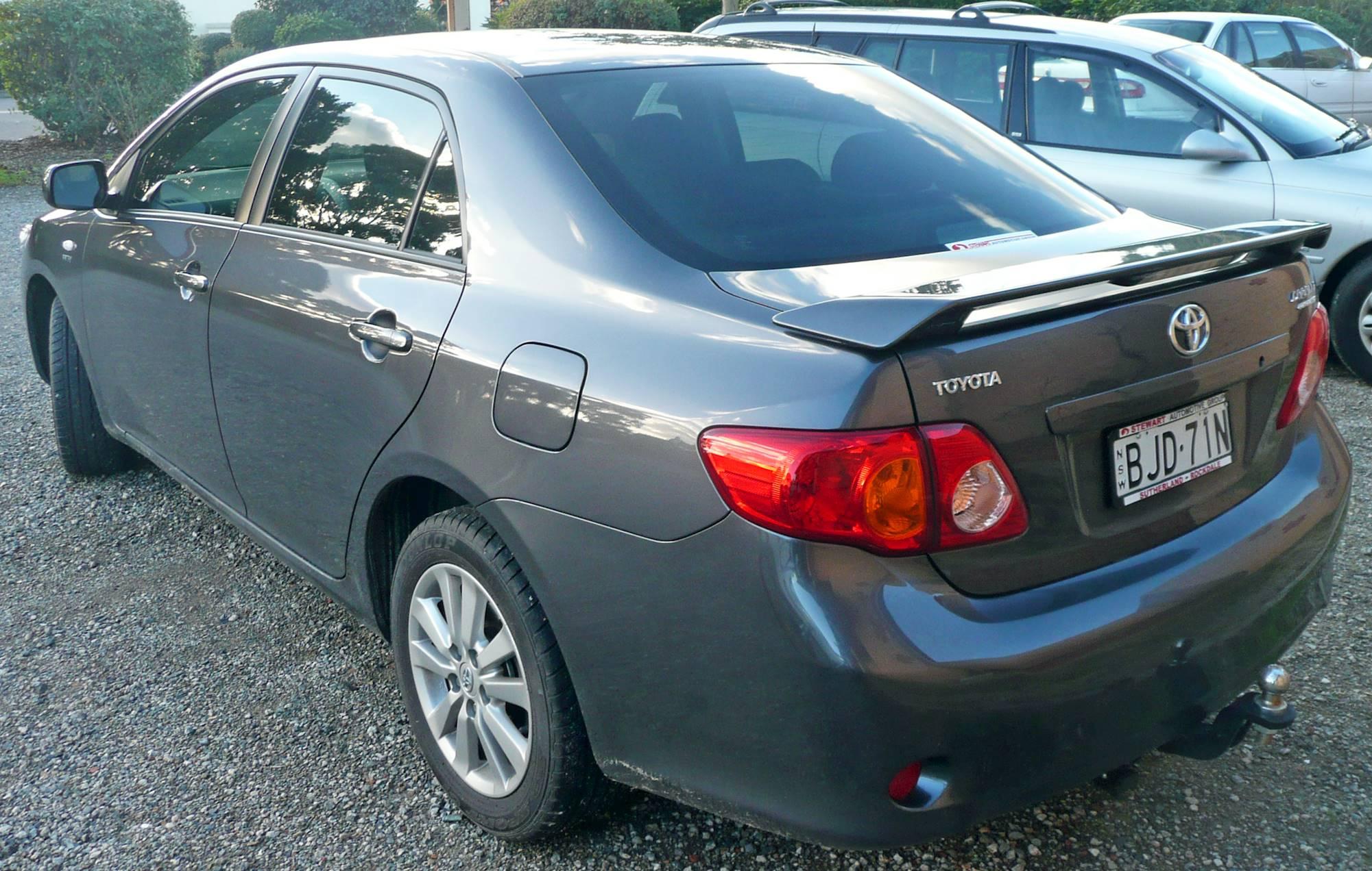 2009 toyota corolla manual sedan