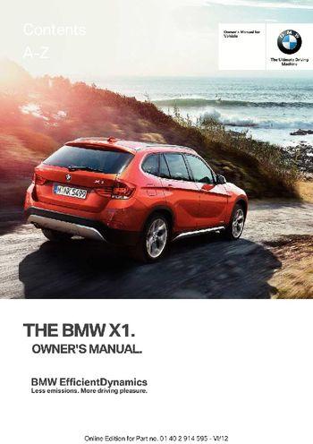 bmw x1 owners manual english