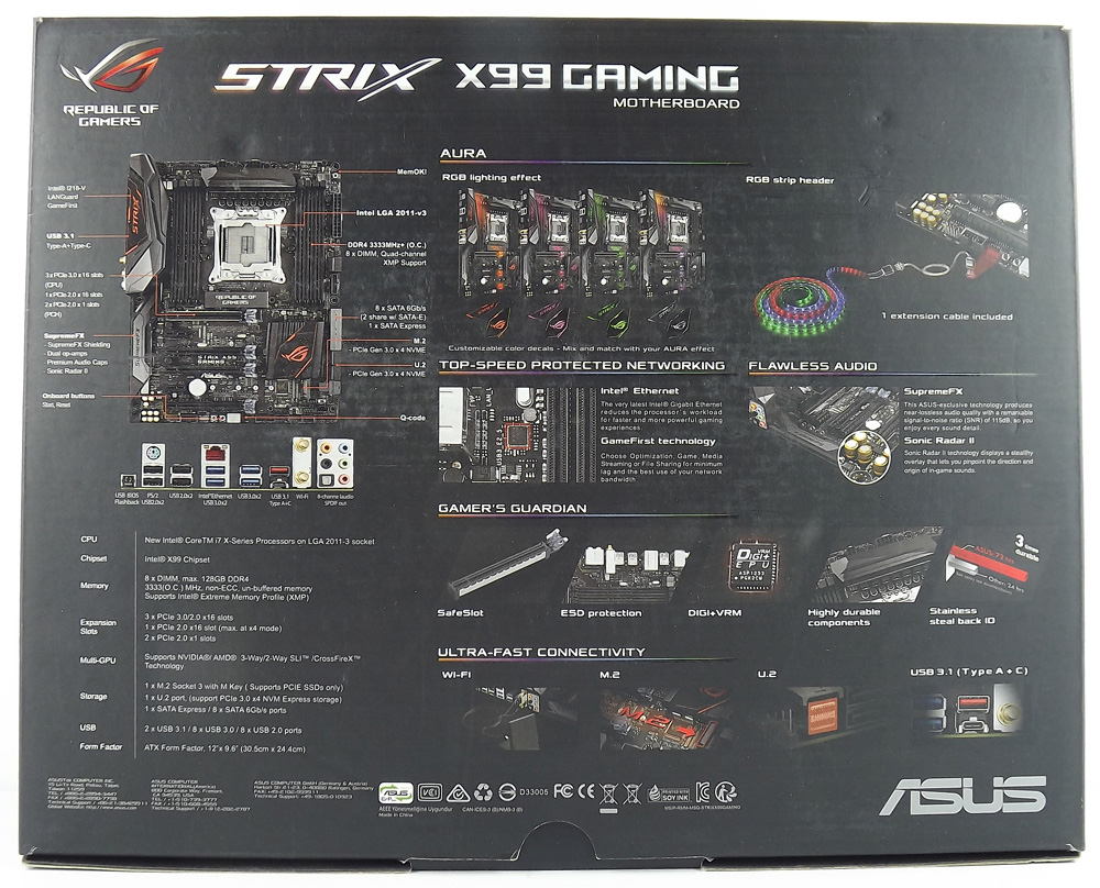 rog strix x99 gaming manual