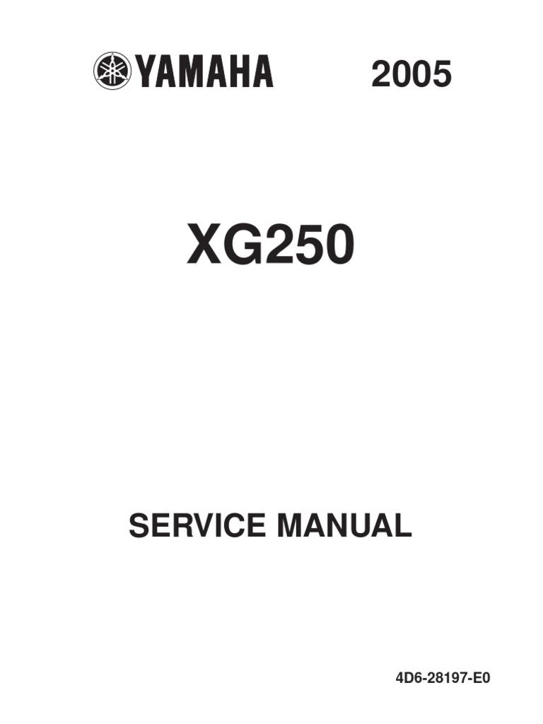 2002 yamaha virago 250 service manual
