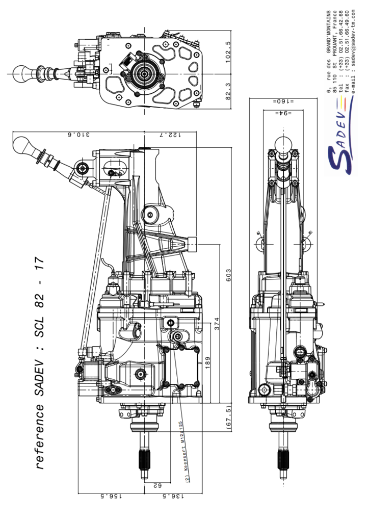 5 speed manual gear box layout