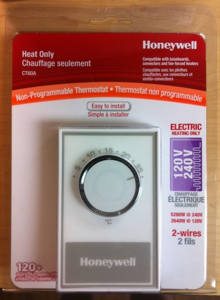 honeywell baseboard manual non programmable