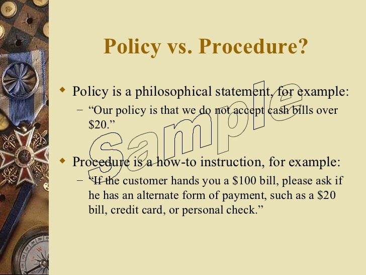 how to policy and procedures manual