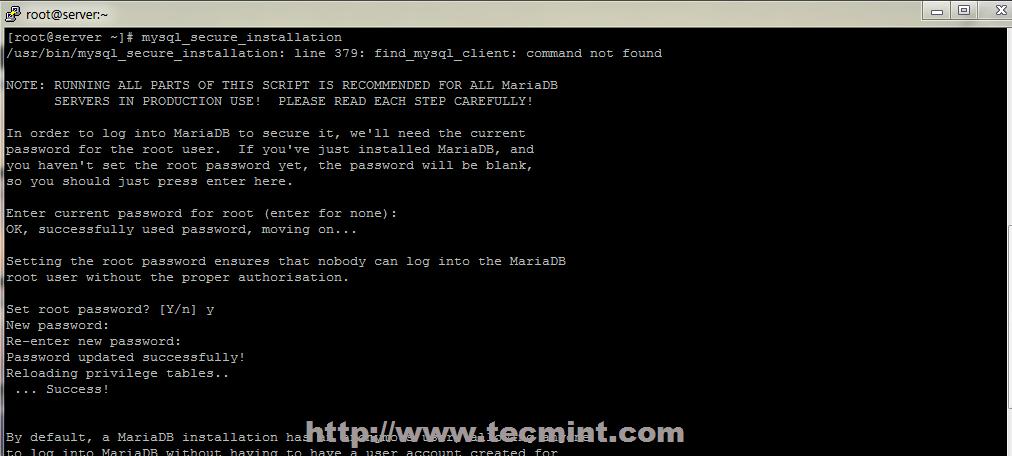 install phpmyadmin manually centos 7