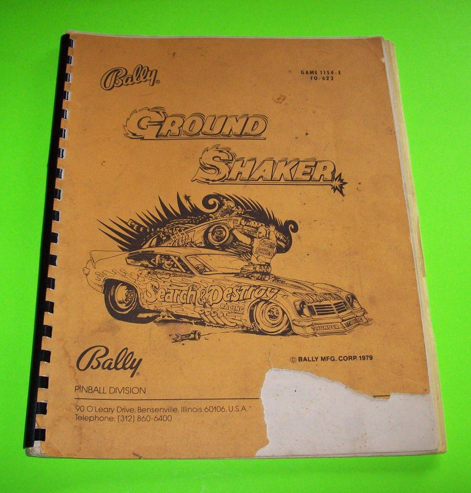 nitro ground shaker pinball manual