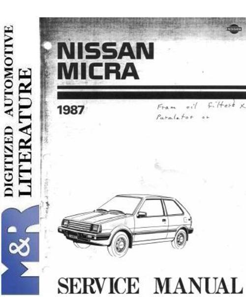 nissan micra k10 service manual pdf