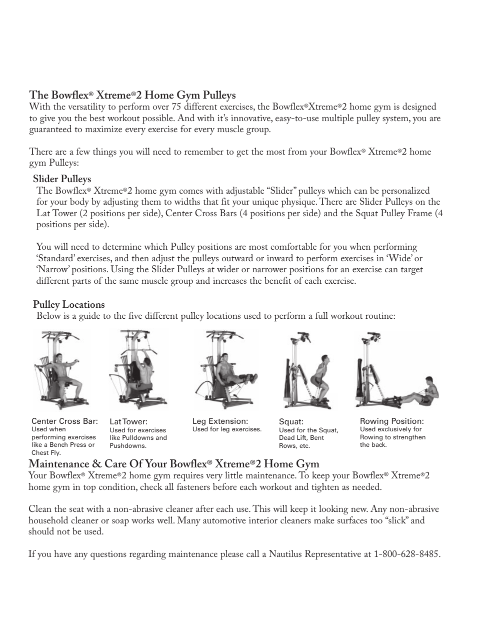 bowflex xtreme 2 home gym manual