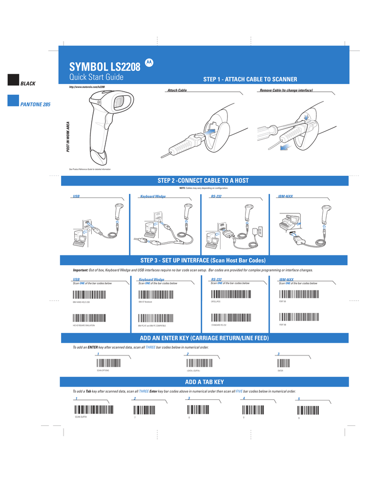 hp barcode scanner ls2208 manual