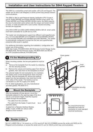 amag m2150 2dbc installation manual