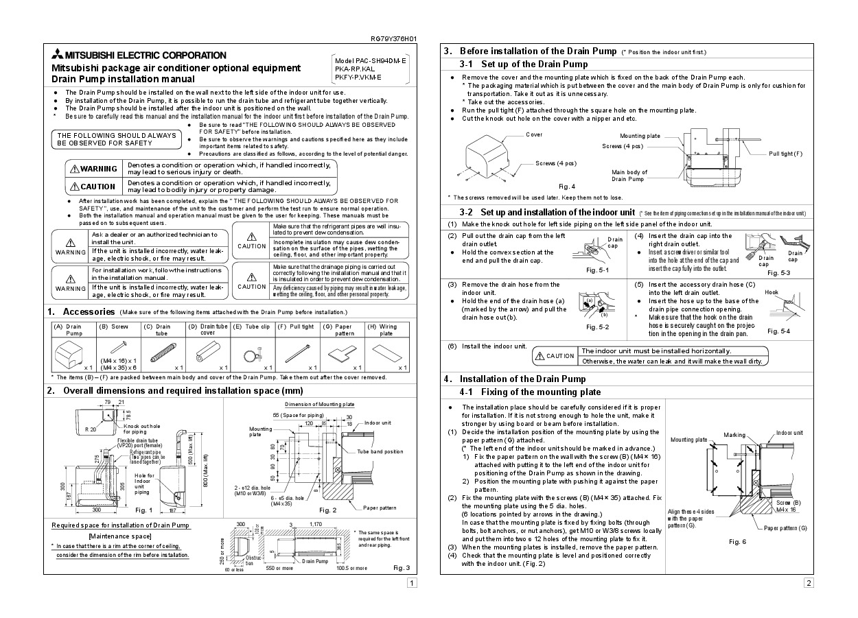 mitsubishi mr slim pka installation manual