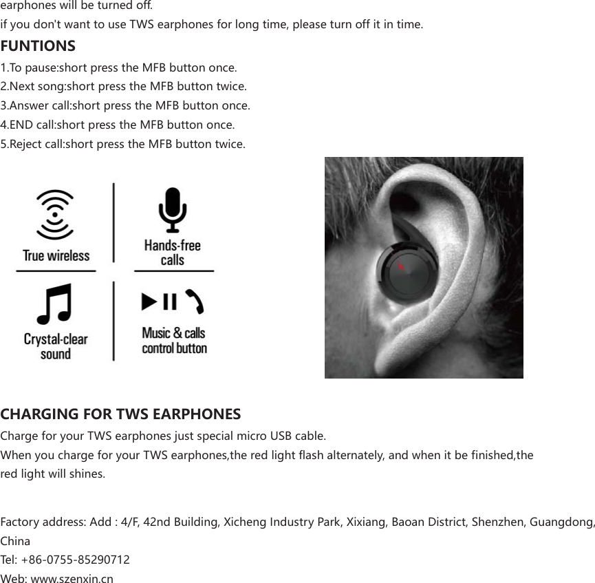 coby wireless bluetooth earbuds manual