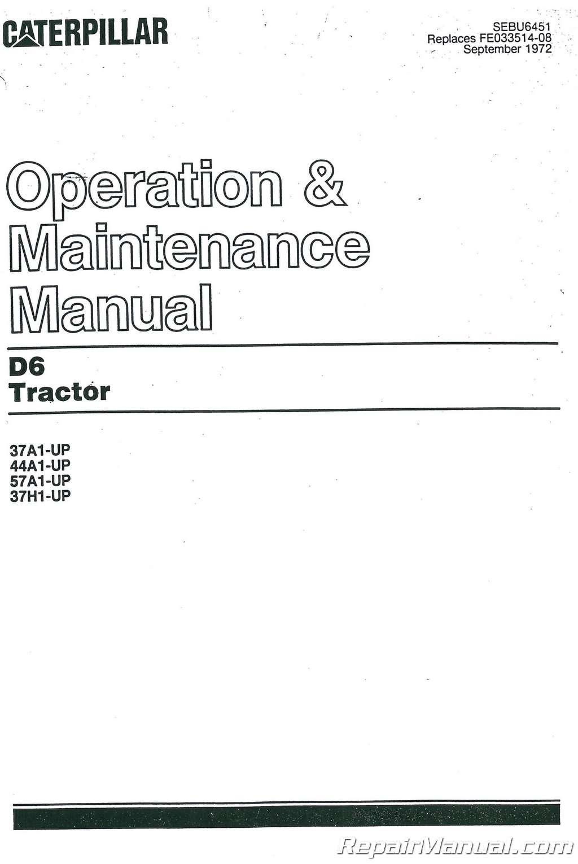 caterpillar d6 9u parts manual