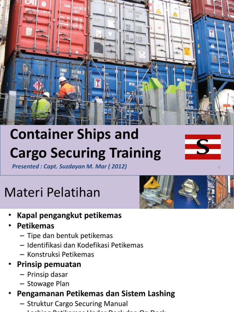 what is a cargo securing manual