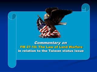 field manual 27 10 the law of land warfare