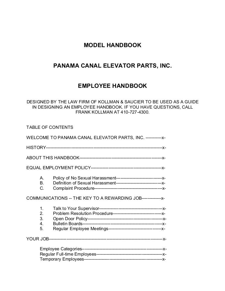 free employee manual template nl