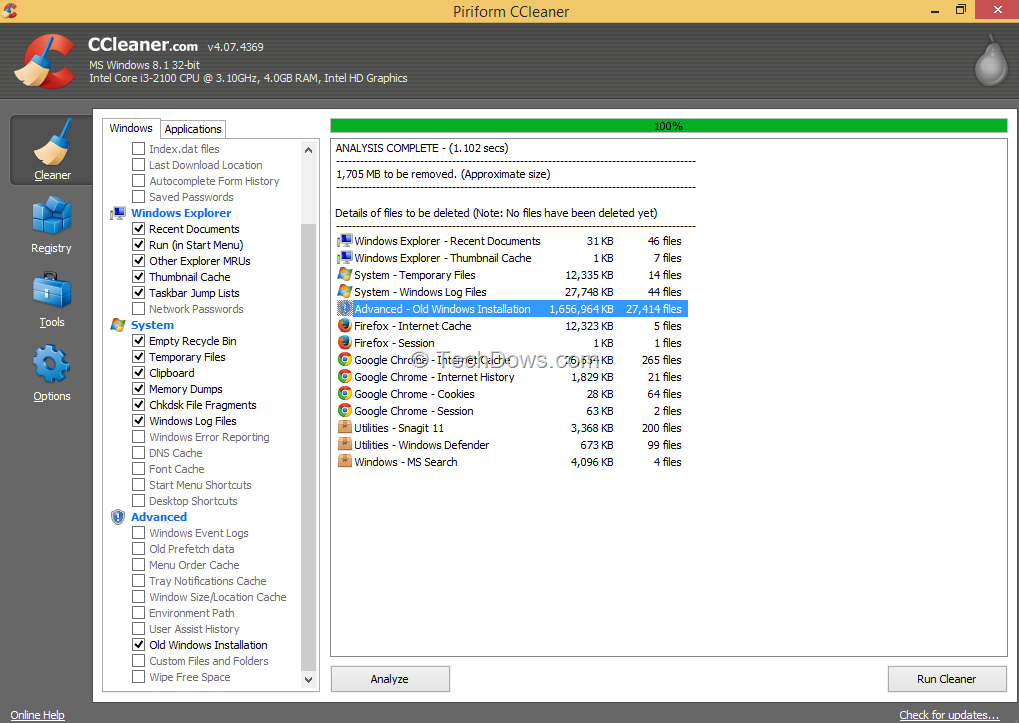 how to clean registry in windows 8.1 manually