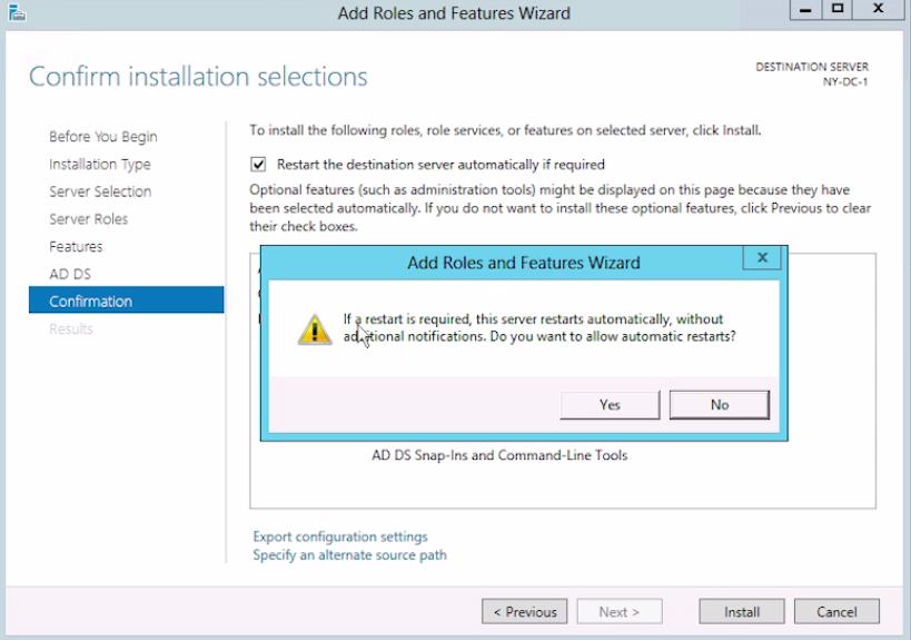 how to install dns on ad domain controller manually