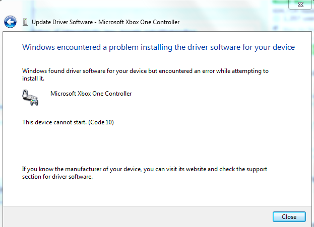 manually download xbox one controller driver for win7 reddit