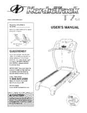 nordictrack treadmill t7 si manual