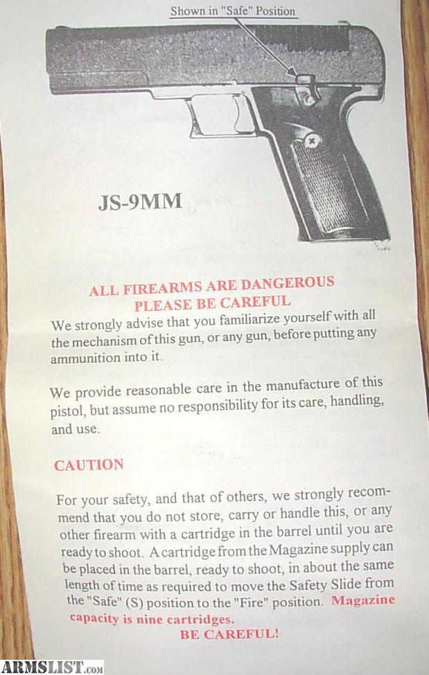 stallard arms js 9mm manual