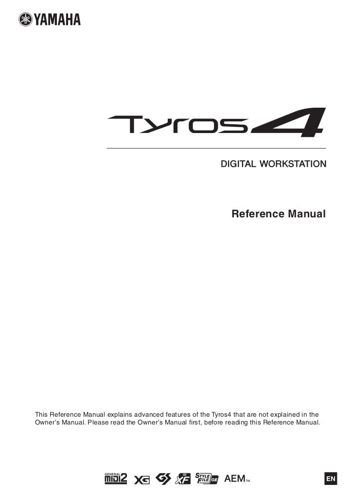 yamaha tyros 1 manual download